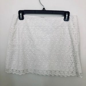 LILLY PULITZER Eyelet Mini-skirt